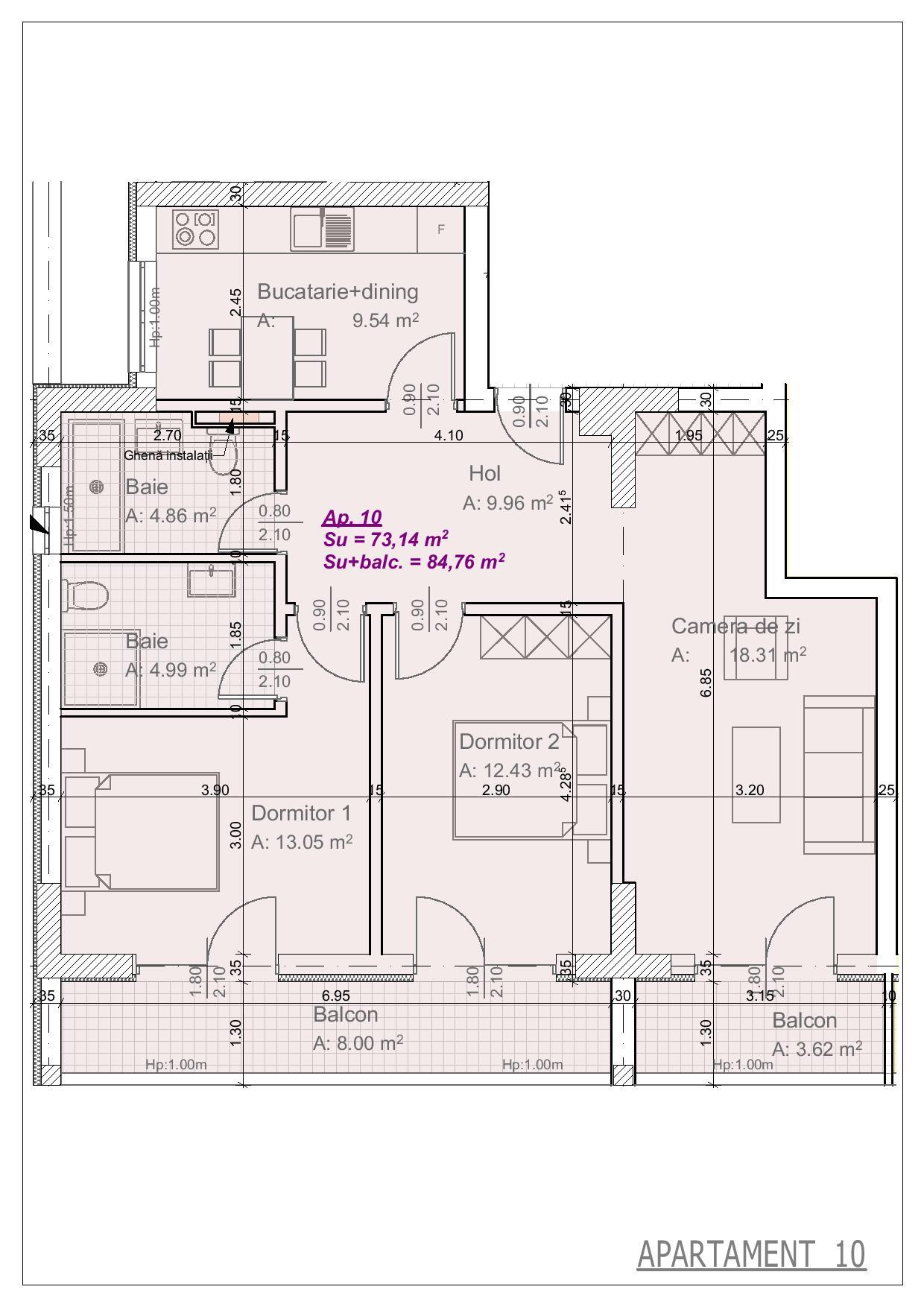 Apartament 10 - 3 camere
